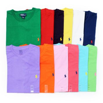 NWT POLO Ralph Lauren Mens SS Cotton Pocket T-Shirt Tee NEW!