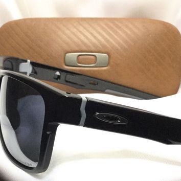 Oakley Cross Range Sunglasses Matte Black Mirror Iridium Prizm Lenses with Case!