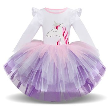 Long Sleeved Unicorn Tutu Dress