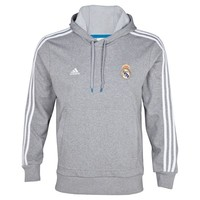 Real Madrid Core Hooded Sweatshirt - Medium Grey Heather/White