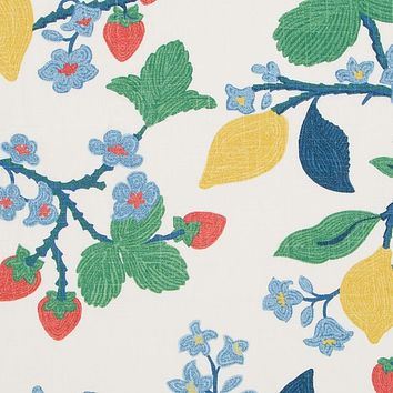 Robert Allen Fabric 510562 Crewel Summer Cherry