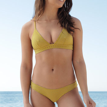 ACACIA SWIMWEAR - Awapuhi Mesh Top | Pineapple