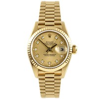 Rolex Datejust swiss-automatic womens Watch 69178 (Certified Pre-owned)