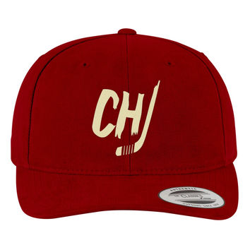 Chicago Blackhawks Brushed Embroidered Cotton Twill Hat