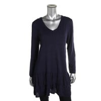 Style & Co. Womens Tiered Long Sleeves Casual Dress