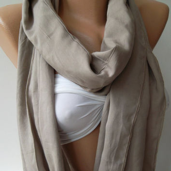 Dance of the Colors Collection / Beige - Infinity - Loop - Circle - Shawl - Scarf......Unisex