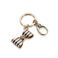 bendel bow stripe key fob - designer key fobs - key chains for women