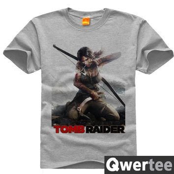 Original Design TOMB RAIDER LARA EIDOS Print Fashion Style Casual T-shirt T shirt Free Shipping