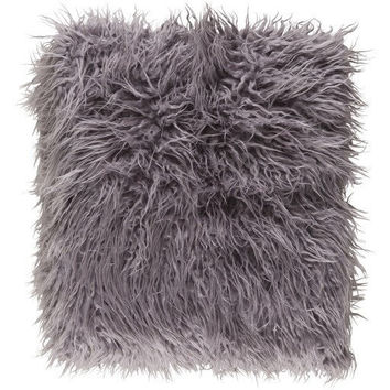 Grey Faux Sheepskin Throw
