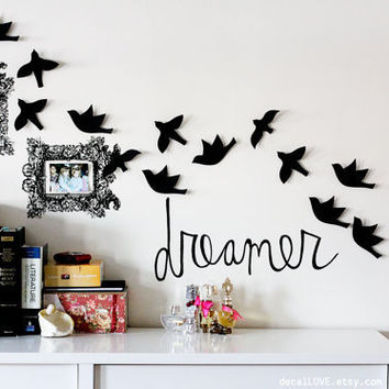 dreamer wall decal by decalLOVE on Etsy