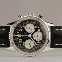 Breitling Stainless Steel Cosmonaute Chronograph Wristwatch Ref 809