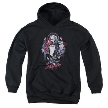 ac spbest Suicide Squad - Bad Girl Youth Pull Over Hoodie