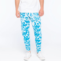 Mowgli Surf Dave's Lagoon Mens Sweatpants Blue Combo  In Sizes
