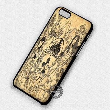 Characters Drawing Walt Disney - iPhone 7 6 5 SE Cases & Covers