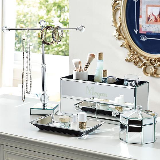 Mirrored Makeup Beauty Storage from PBteen