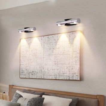 Wall lamps LED SMD 2W Sconce Bulb 360 Degree Rotatable Mirror Front Light  up and Down Home KTV Bar Washing Living room IQ