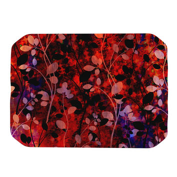 "Ebi Emporium ""Amongst the Flowers - Summer Nights"" Red Black Place Mat"