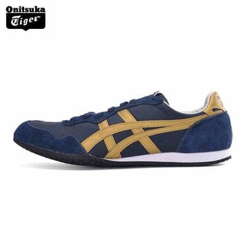 Top Quality Onitsuka Tiger Breathable Men Sport Shoes SERRANO Men Sneakers Lightweight Outdoor Men Jogging D109L