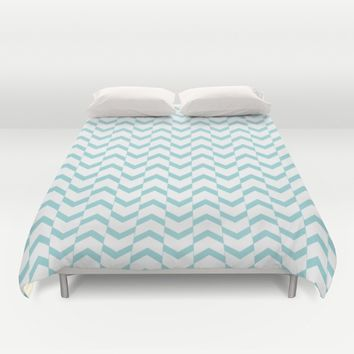 Limpet shell chevron  Duvet Cover by Xiari