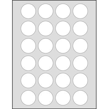 Dashleigh 120 Printable Cardstock Small Circle Hang Tags, Personalize and Custom Tags, Ultra Micro Perforated, 1.5 inches, White