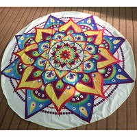 2016 Hot Round Summer Indian Mandala Tapestry Hippie Printed Wall Hanging Chiffon Boho Beach Throw Towel Mat Blanket Home Decor