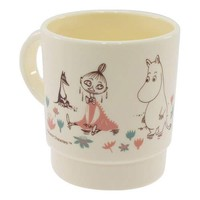 "Moomin/Cup • stacking Cup ""flower garden"" / Nordic ☆ skater (340 ml) made in Japan / anime toy store ☆ cinema collection ◆"