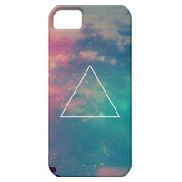 Cool Colorful Pink Turquoise Teal Aqua Hipster Nebula Stars Space Galaxy Triangle iPhone 5 Cases