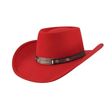Bailey Western LITTLE JOE Mens Cowboy Hat, Red-XS