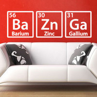 The Big Bang Theory Sheldon Cooper Bazinga Wall Decal Sticker