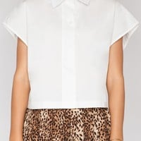 Crop white shirt - Shop the latest Fashion Trends