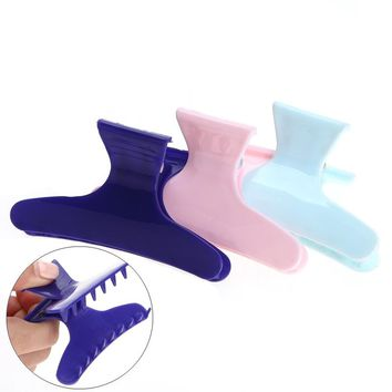 3pcs/pack Colorful Butterfly Hairdressing Hairdressers Hair Section Clamps Clips Claw hair Salon Styling Tools Accessories