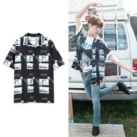KPOP BTS Bangtan Boys Army   Boys JUNG KOOK ing Ultra-popular ifashion shirt AT_89_10