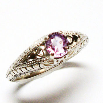 "Pink spinel ring s 7 ""Park Avenue"""