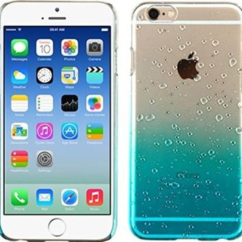 MyBat iPhone 6 Gradient Water Drop Back Protector Cover - Retail Packaging - Transparent/Blue