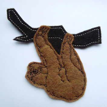Iron On Patch Sloth Applique in Rust
