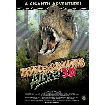 Dinosaurs Alive 3D Movie poster Metal Sign Wall Art 8in x 12in
