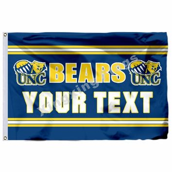 Northern Colorado Bears YOUR TEXT Flag 3ft x 5ft Polyester NCAA Banner Flying Size No.4 90*150cm Custom flag