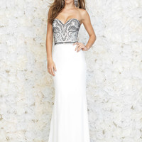 Madison James Strapless Ivory Prom Gown 15-113