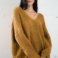 Polly Knit Sweater - Dijon