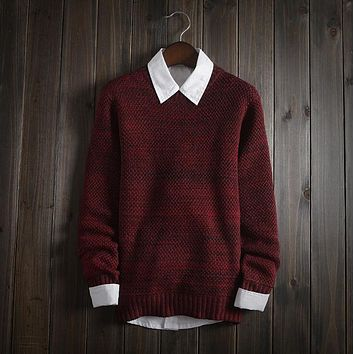 Men's Comfortable Soft Pullover Sweater