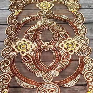 33 inch Beaded Table Runner Cloth Special For Any Occasion