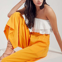 Silence + Noise Lara Mid-Rise Culotte Pant   Urban Outfitters