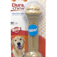 Nylabone Dura Barbell Peanut Butter Flavor Dog Chew Toy Large/XL