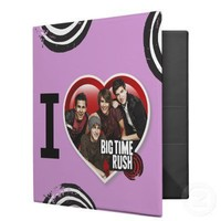 I Love Big Time Rush Binder from Zazzle.com