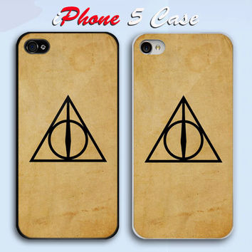 Harry Potter Deathly Hallow  Custom iPhone 5 Case Cover