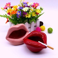 Fashion Ceramic Lips Cigarette Holder Ashtray
