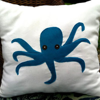 Octopus Pillow by inpaperclouds on Etsy