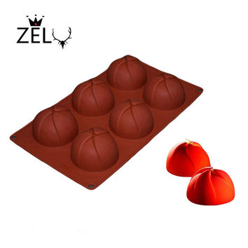 ZELU Silicone 6 Cavity 3D Cake Windmill Shape Silicone Chocolate Candy Jelly Baking mould Fondant Cake Decorating Tools