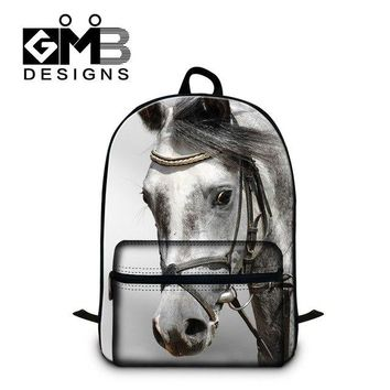 University College Backpack  Students School s,Animal Horse Pattern laptop  for Boys,Youth Back pack,Mens Day Pack mochila for teensAT_63_4
