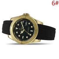 Rolex Fashion New Leather Watchband Women Men Watch Wristwatch